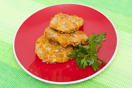cornflakes: Breaded cutlets