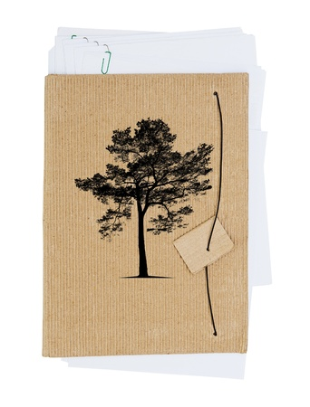 Tree and paper Stock Photo - 14851829