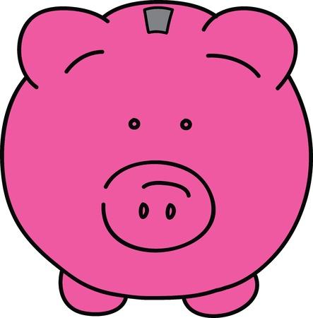 bank economic crisis: Pink pig