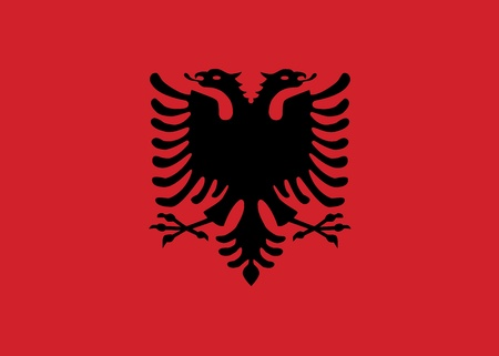 albanian: Flag of Albania Illustration