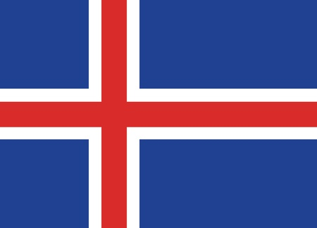 Flag of Iceland Stock Vector - 16082121