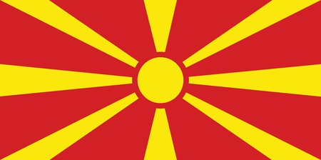 macedonia: Flag of Macedonia Illustration