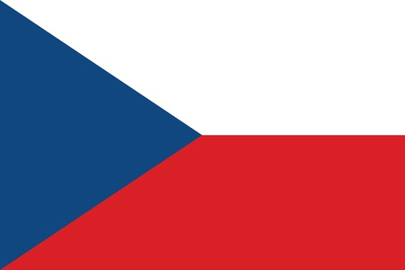 eu flag: Flag of Czech Republic  Illustration