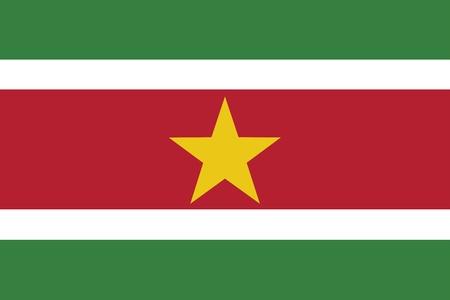 smallest: Flag of Suriname Illustration