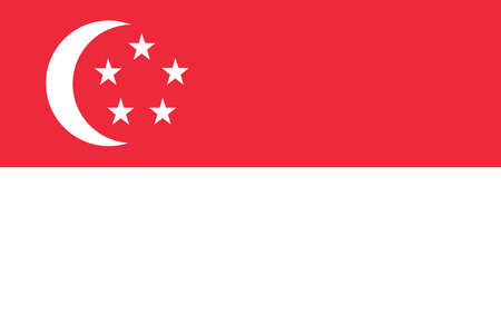 Flag of Singapore Stock Photo - 16159681