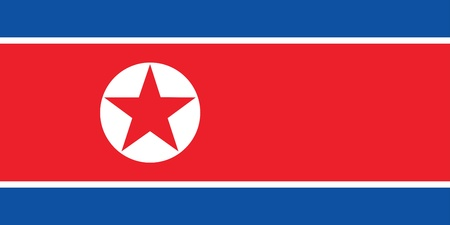 pyongyang: Flag of North Korea