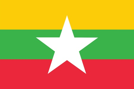 myanmar: Flag of Burma  Myanmar  Illustration