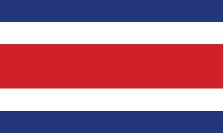 rican: Bandera de Costa Rica Vectores