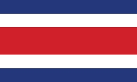 latin american:  Flag of Costa Rica  Illustration