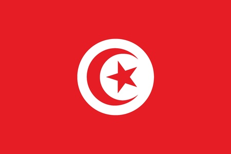 Flag of Tunisia Stock Vector - 16252368