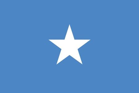 somalis: Flag of Somalia Illustration