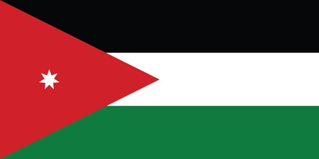 jordanian: Vlag van Jordanië