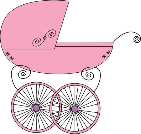Baby stroller Stock Vector - 16456964