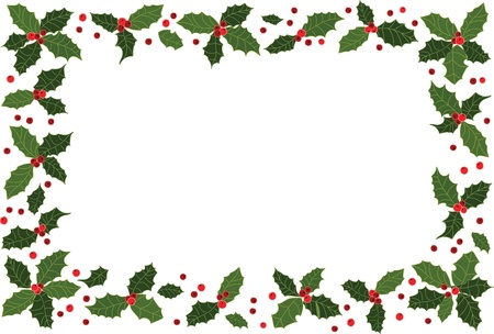 holly leaf: Christmas frame