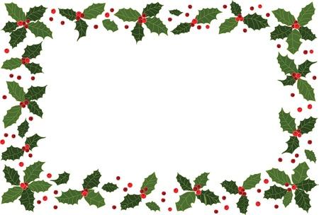 hulst: Kerstmis frame Stock Illustratie