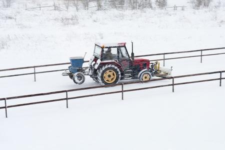 removal van: Winter Stock Photo