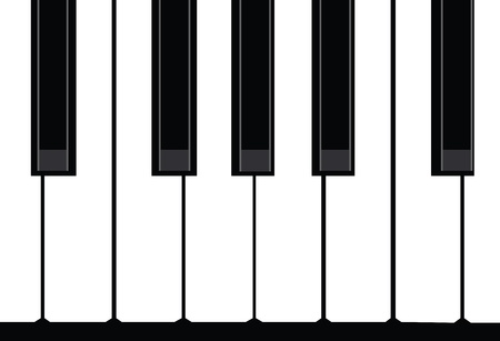 hands on keyboard: Piano Illustration