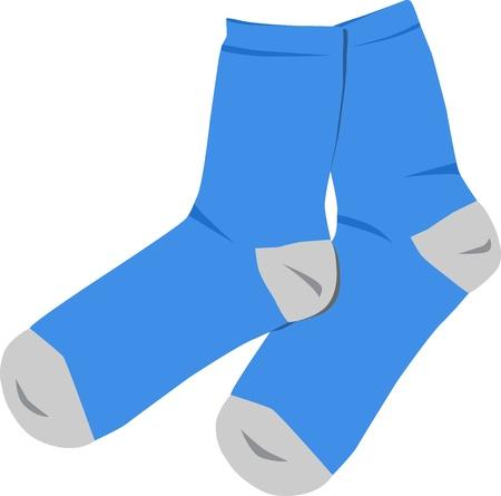 pairs: Blue socks Illustration