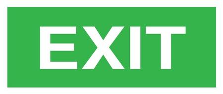 Exit Stock Vector - 17582163