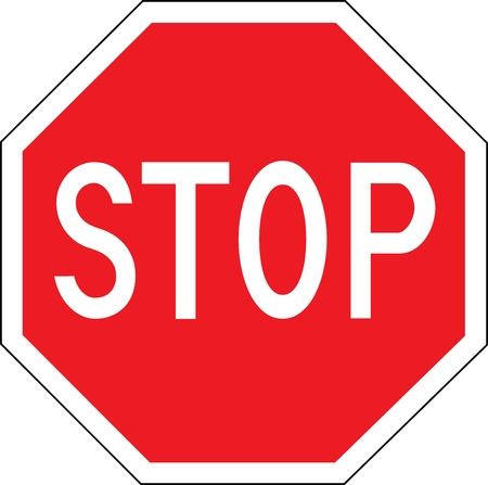 red sign: Stop