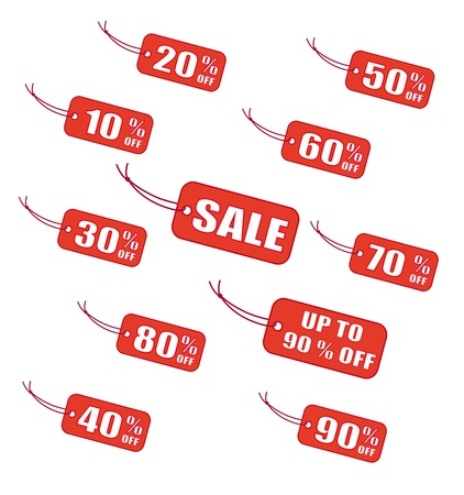 house clearance: Red sale labels