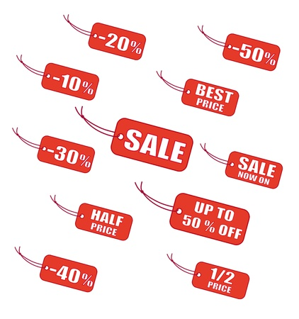 allowance: Red sale labels