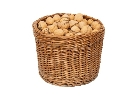 willow fruit basket: Walnuts