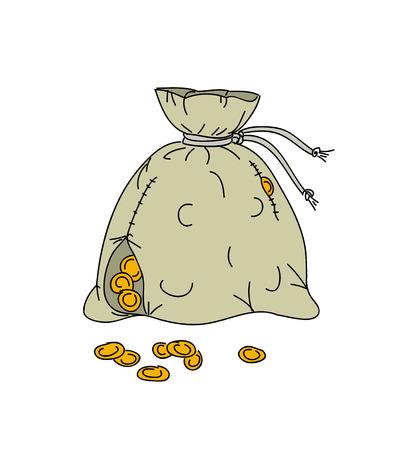 money bag: Illustration of money bag Illustration