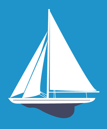 yacht isolated: Sailboat Illustration
