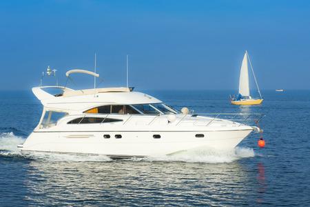 motor boats: Summertime Stock Photo