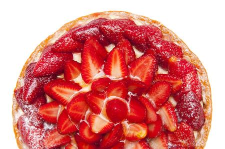 Cake with strawberries photo