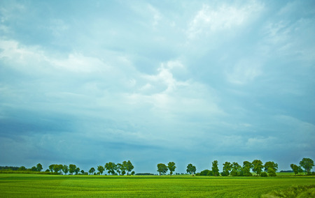 inclement weather: Cloudy landscape Stock Photo