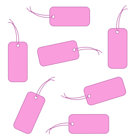 Pink labels Vector