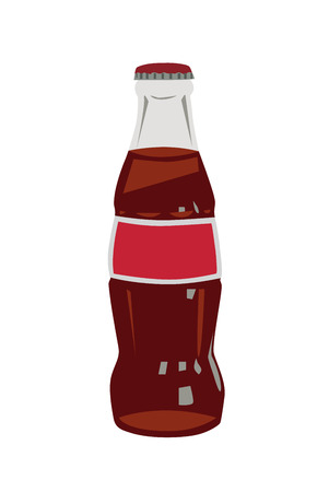 Glass cola bottle