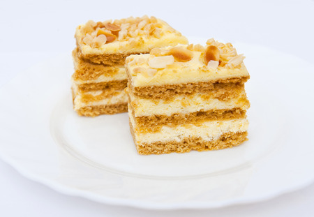 Cake with almonds  photo
