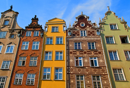 gdansk: Colorful tenement houses