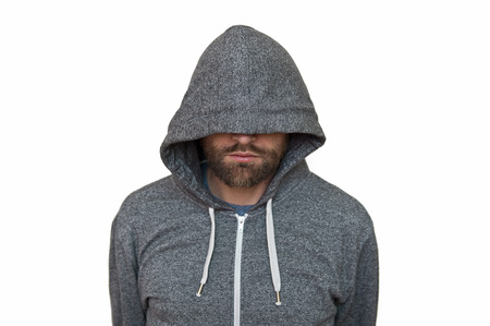 hooded: Hooded man Stock Photo