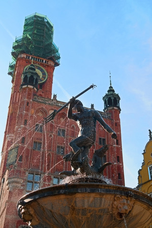 The Neptune Monument in Gdansk photo