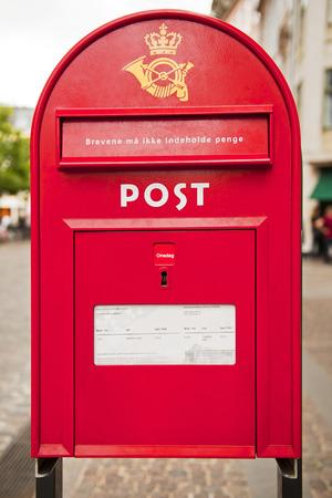 Post box in Copenhagen photo