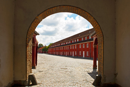 fastness: COPENHAGEN, DENMARK - JULY 2  Fortress Kastellet on July 2, 2014 in Copenhagen Editorial