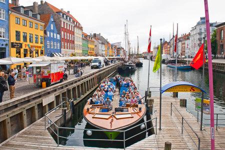 COPENHAGEN, DENMARK - JULY 2  Canal Tours Copenhagen in Nyhavn on July 2, 2014 in Copenhagen