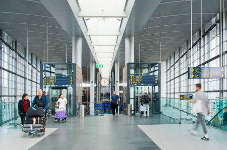 kastrup: COPENHAGEN, DENMARK - JULY 1  Lufthavnen Airport on July 1, 2014 in Copenhagen