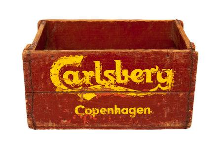 carlsberg: COPENHAGEN, DENMARK - JULY 2  Carlsberg Copenhagen wooden box on July 2, 2014 in Copenhagen
