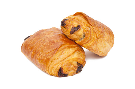 Croissants with chocolate photo