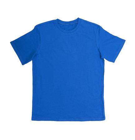 azul marino: T-shirt aislado en blanco