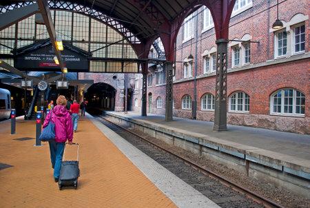 COPENHAGEN, DENMARK - JUNE 30: Central railway station on June 30, 2014 in Copenhagen