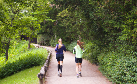 COPENHAGEN, DENMARK - JULY 3: Running in the park on July 3, 2014 in Copenhagen.