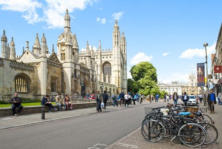 CAMBRIDGE, ENGLAND - MAY 28: University of Cambridge on May 28, 2015 in Cambridge