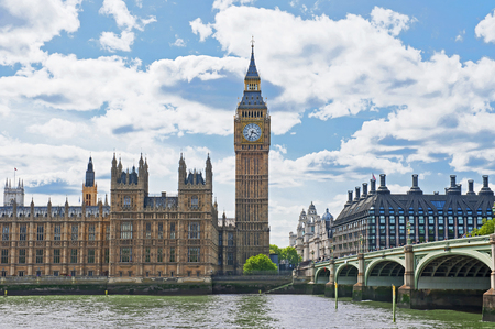architectural studies: Palace of Westminster in London, England