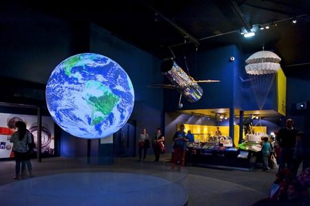 LONDON, ENGLAND - MAY 31: The Earth video display in the Science Museum in London on May 31, 2015 in London